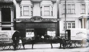 Blanchisserie fondée en 1903 par le béarnais andré peninou à san francisco (maison toujours en activité aujourd'hui)