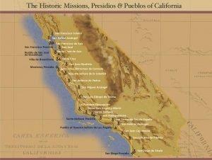 Les missions, forts et villes dans l'ancienne californie