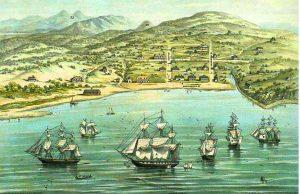 Village de yerba buena en 1847, rebaptisé san francisco, avant la ruée vers l'or