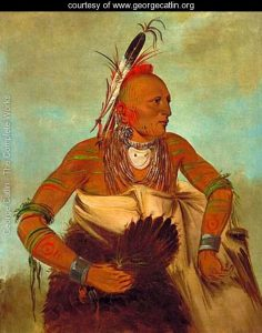 Les osages, de langue siouane, étaient les partenaires privilégiés des français pour la traite des fourrures