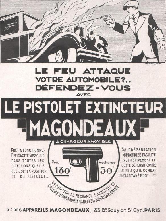 """Affiche """"le pistolet extincteur"""" magondeaux"""