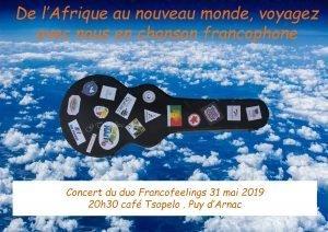 De l'afrique au nouveau monde - francofeelings - puy d'arnac aqaf