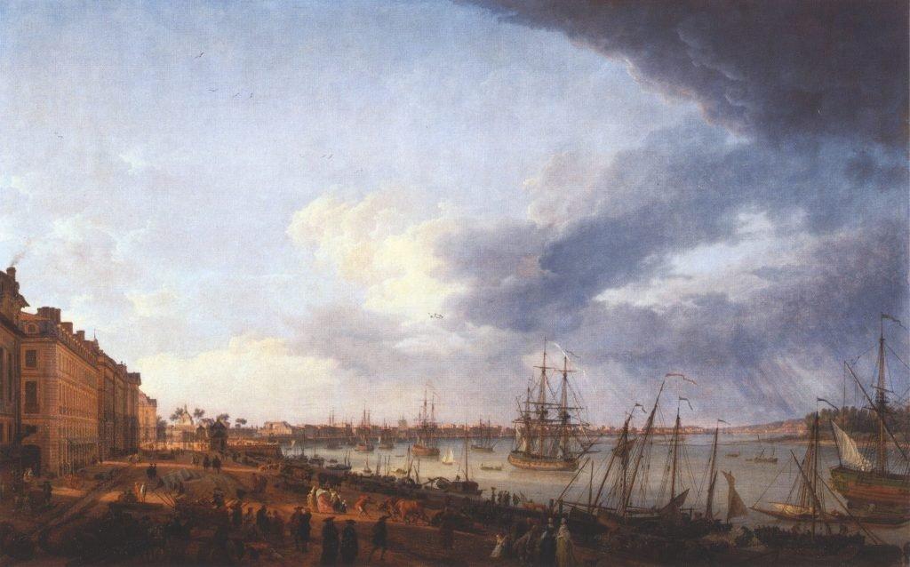Port de bordeaux en 1758